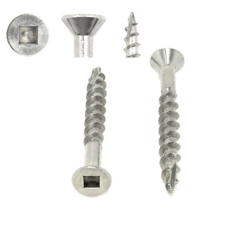 305 Stainless Steel Square Drive Flat Head Deck Screws