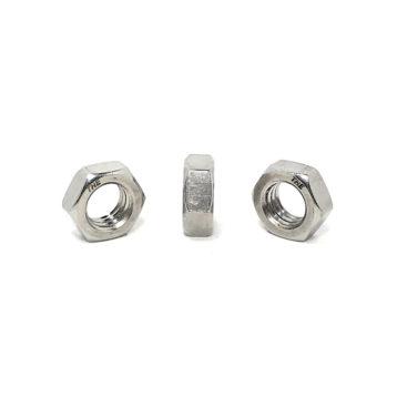 18-8 Stainless Steel Hex Jam Nuts (UNC) Coarse Thread