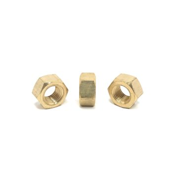 Solid Brass Finished Hex Nuts (UNC) Coarse Thread