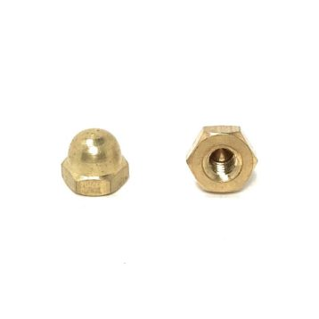 Solid Brass Hex Acorn Cap Nuts (UNC- UNF)