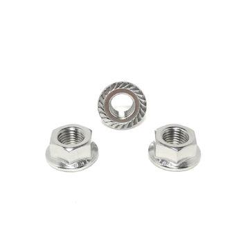 304 Stainless Steel Hex Serrated Flange Lock Nuts (UNF) Fine Thread