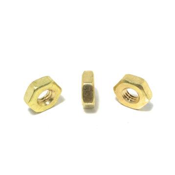 Solid Brass Hex Machine Screw Nuts (UNC - UNF)