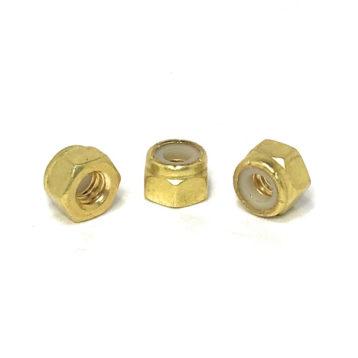 Solid Brass Hex Nylon Inset Lock Nuts (UNC) Coarse Thread