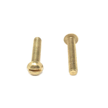 Solid Brass Slotted Round Head Machine Screws (UNC) Coarse Thread